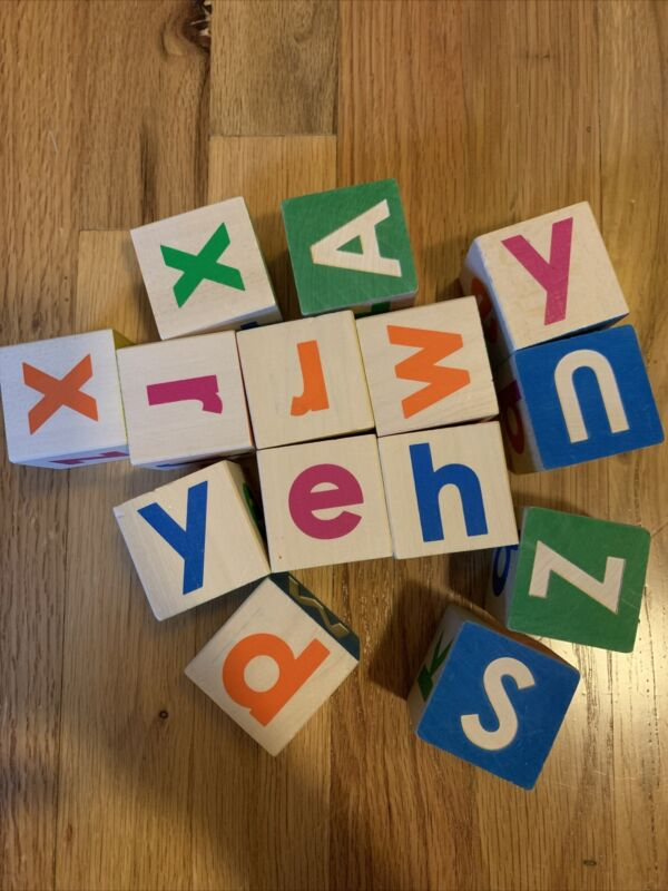Uncle Goose Upper And Lowercase ABC Wooden Letter Blocks