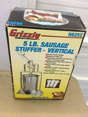 New Sausage Stuffer -5 Lb. Sausage Stuffer -vertical Grizzly Model H6252