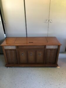 Vintage Record Player and Cabinet
