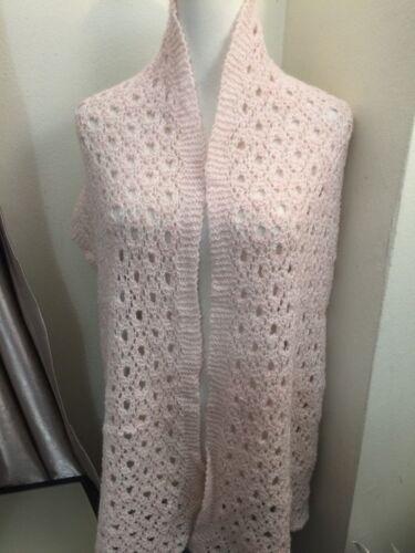 Handknit wool/cotton/mohair blend WRAP/SHAWL/SCARF