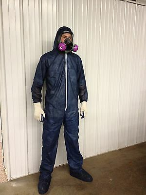 Disposable Poly Coveralls Suits - Paint - Spray Foam - Xxxl Case Of 25