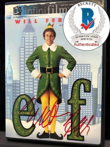 WILL FERRELL BEAUTIFULLY SIGNED ELF DVD COVER BAS BECKETT COA  AUTH#T41297