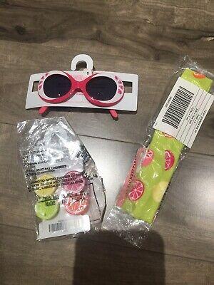NWT Gymboree Citrus Cooler Clips Summer Headband Sunglasses 2-4 Fun Vacation - Headband Sunglasses
