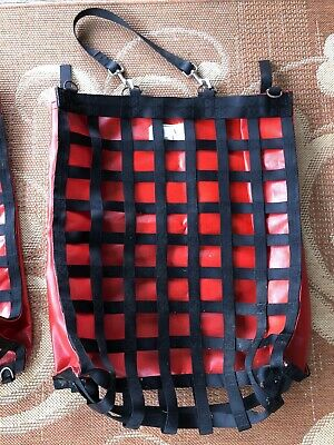 """Nibblenet Slow Feed Hay Bag Red and Black 2"""" Holes Standard Size"""