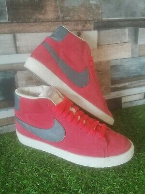 Nike Blazer Mid 77 Red Suede Size 6 UK 40 Eur