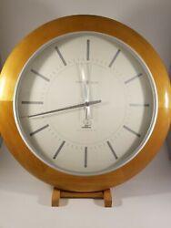 Accuwave Large Modern Wall Clock Indoor Non Numeric Marks. Analog Display. Radio