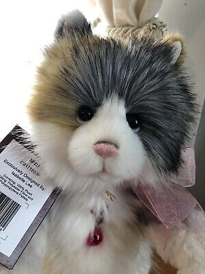 Mitzi the adorable from Charlie Bear kittens collection with tag and bell