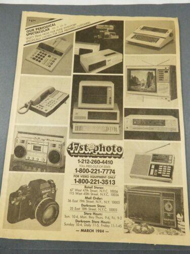 47th Street Photo vol 13 No 26 March 1984 Radio Electronics Catalog Magazine