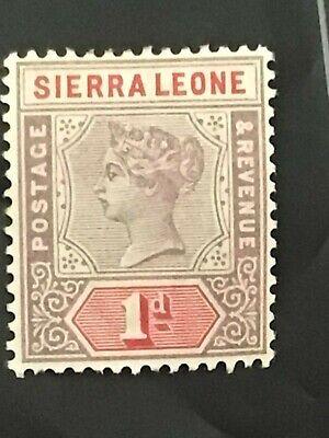 Sierra Leone stamp QV 1896 1d lilac MH