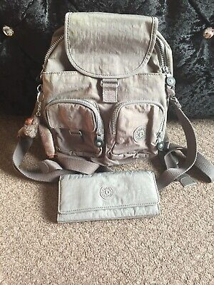 kipling  firefly  N backpack/across the shoulder bag In Cloudy Grey And Purse