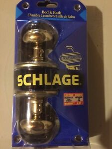 Door Knobs (qty 2) -  SCHLAGE  'Bed &Bath'