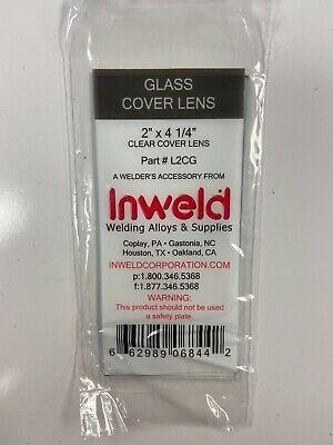 Glass Welding Helmet Cover Lens 2 X 4 14 Pack Of 10
