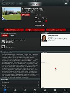 Acreage for sale in Red Deer County Alberta