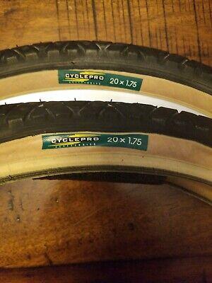 2 pcs Clincher Tire BMX Bike Cross Baby 16 x 175 Vintage Retro Rare 70 80