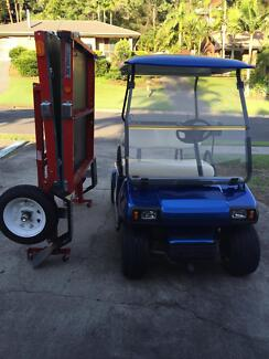 2008 Club Car Golf Buggy/Cart and Trailer Shailer Park Logan Area Preview