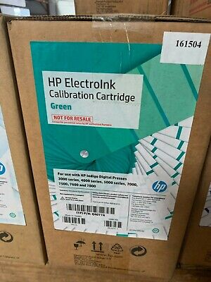 Hp Indigo Electroink Q4077a Calibration Cartridge Green For 3000 7000 7500 7600