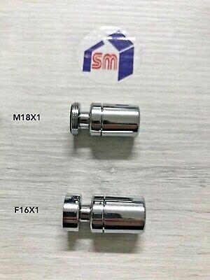 AERATORE MINIMAL ROMPIGETTO FILTRO X RUBINETTO CON SNODO M 18 X 1 e F 16 X 1