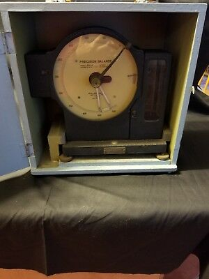 Antique Roller Smith Precision Milligram Balance Scale 500 Mg W Wooden Box Work