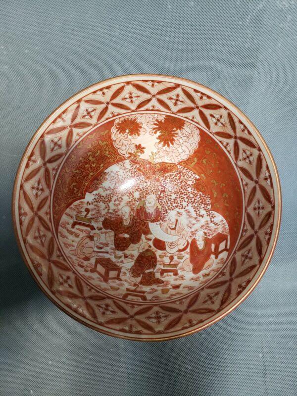 "Antique 19th Century Dai Nippon Kutani Porcelain Bowl 9.5"""