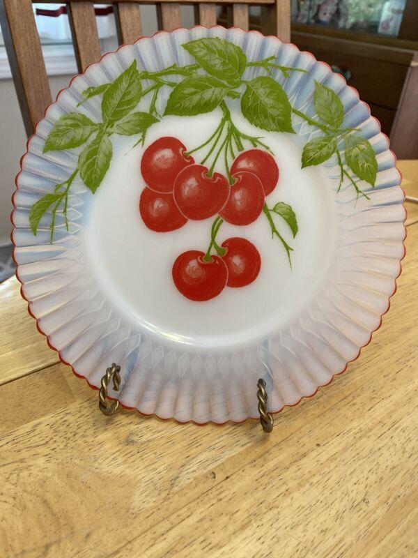 """Macbeth Evans PETALWARE MONAX  8"""" Salad/Luncheon Plate CHERRIES"""