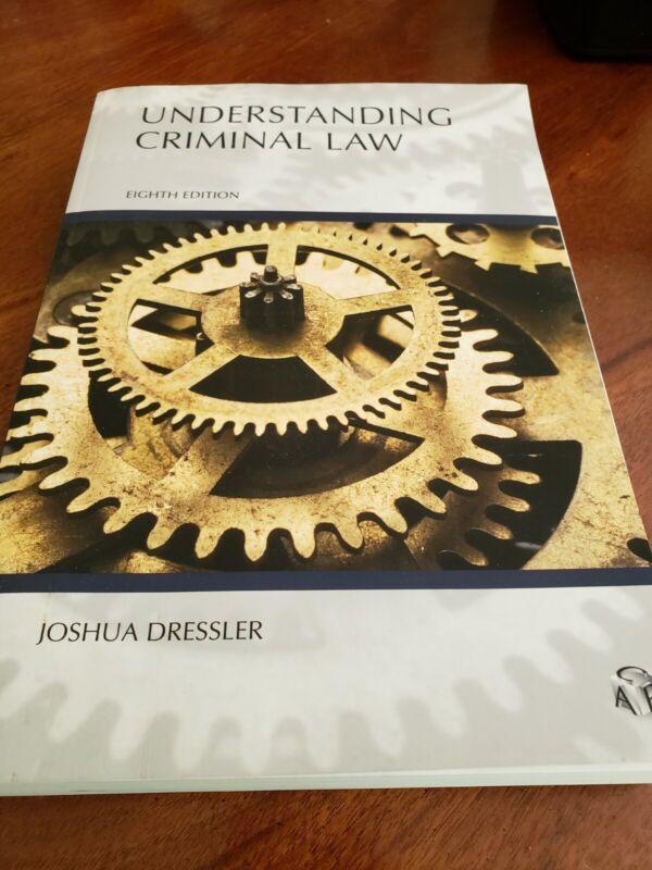Understanding Criminal Law 8th Edition By Joshua Dressler. Like New.