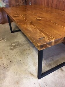 Rustic handcrafted coffee table $200firm