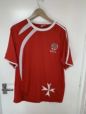 Malta Maltese Cross 2012 Home National Football Team Shirt XL Extra Large Rare image