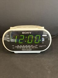 Sony Dream Machine  White ICF-C318 FM/AM Dual Alarm Clock Radio Tested