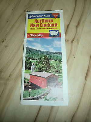 New Hampshire State Map (AMERICAN MAP NORTHERN NEW ENGLAND State Road Map Maine + Vermont + New Hampshire)