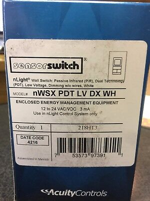 Nwsx Pdt Lv Dx Wh Nlight  By Acuity  Wall Switch  New
