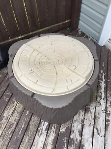 Large plastic sand box