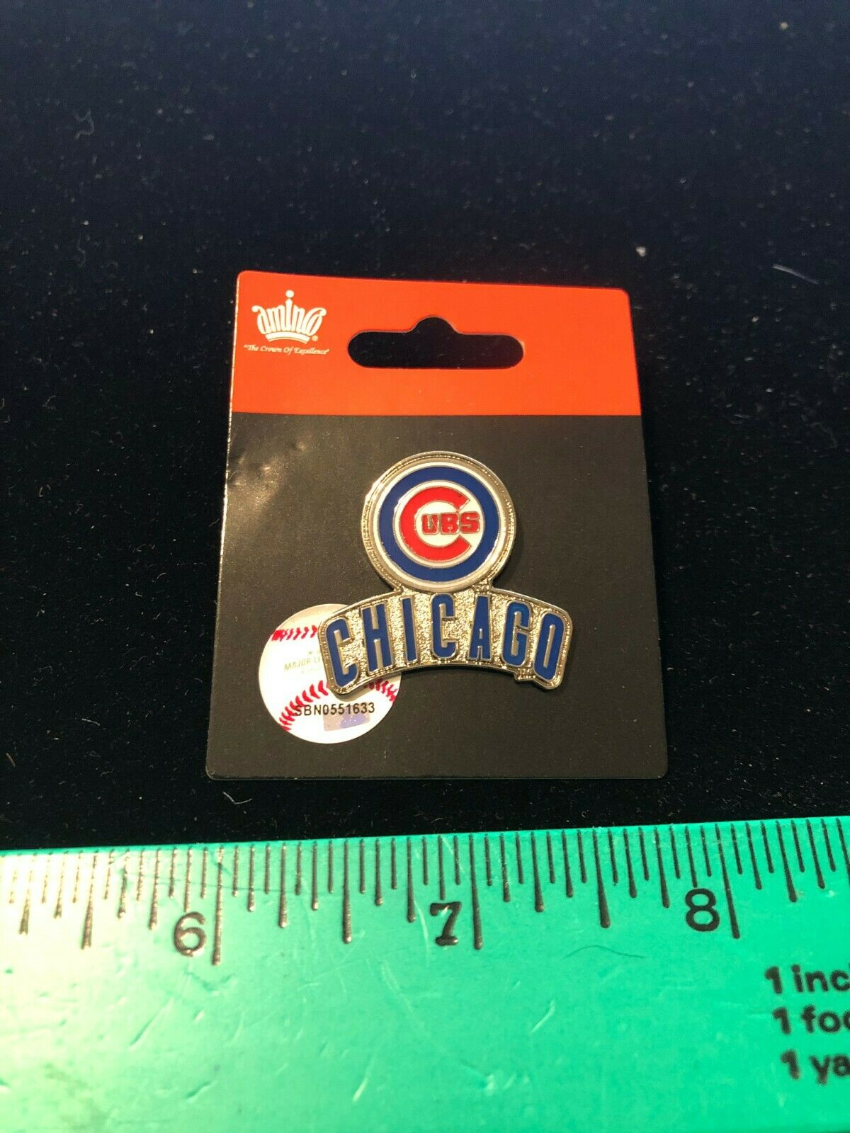 NEW 2020 ISSUE Chicago Cubs Primary Plus Lapel Pin - MLB Lic