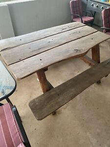 Solid hard wood table PLUS solid hard wood bench