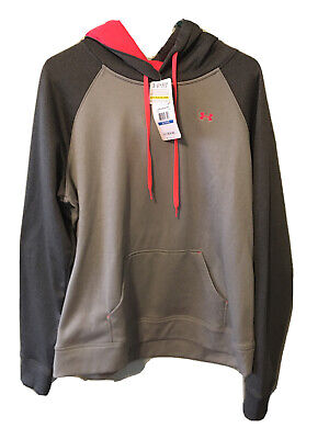 Under Armour UA Cold gear Semi-fitted Compression Hoodie Women's X-L Gray NWT