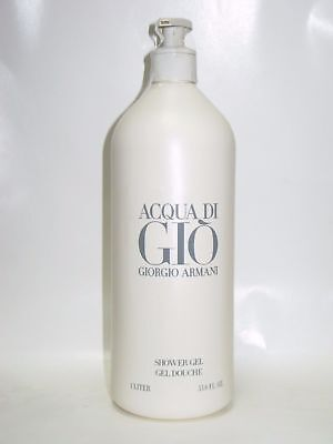 Acqua Di Gio Shower Gel (ACQUA di GIO Men GIORGIO ARMANI Shower Gel 33.8 oz / 1 Liter New Jumbo Size)