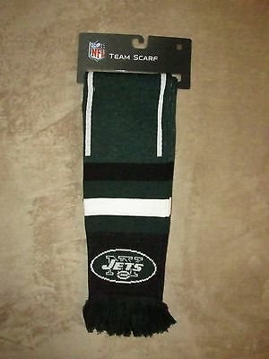 New York Jets Official Nfl Knit Winter Scarf  Nwt  Football Cold Weather Ny
