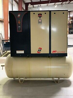 Used Ingersoll Rand Rotary Compressor 25hp 240 Gallon Tank 380-460v 3 Phase