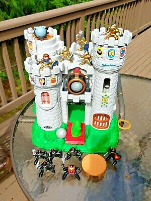 1994 Vintage Fisher Price Great Adventures Castle Knights #7110_NEAR COMPLETE!