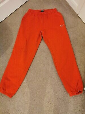 NIKE SWEAT PANTS JOGGERS TRACKSUIT BOTTOMS SIZE MEDIUM RED