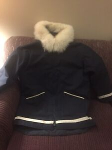 Inuit Made Coat with Fox Fur Around Hood L/XL