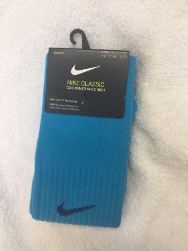 NWT Nike Classic II Sock Soccer, Equator Blue, Womens 4-6,Yo
