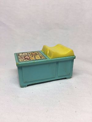 Fisher Price #761 Changing Table Aqua Blue Baby Nursery Vintage Little People