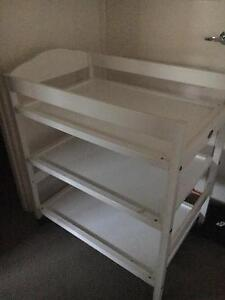 Baby white wooden change table Coomera Gold Coast North Preview