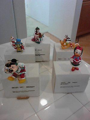 Disney Christmas Ornaments Mickey, Daisy,Pluto,Jimmy & Beauty