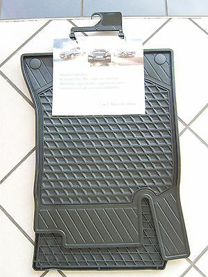 Original Mercedes Gummimatten Allwettermatten C-Klasse 205 Coupe 4teilig schwarz