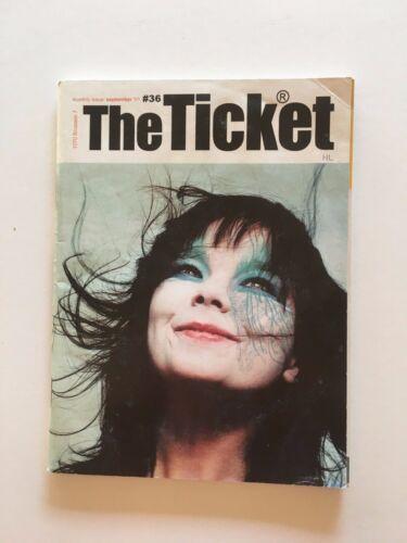 THE TICKET Mini Magazine #36 BJORK September 2001 OOP music brussels NL