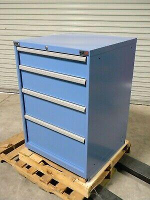 Lista Modular Storage Cabinet 4 Drawer 42 X 28 X 28 Steel Blue