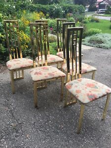 MCM brass chairs