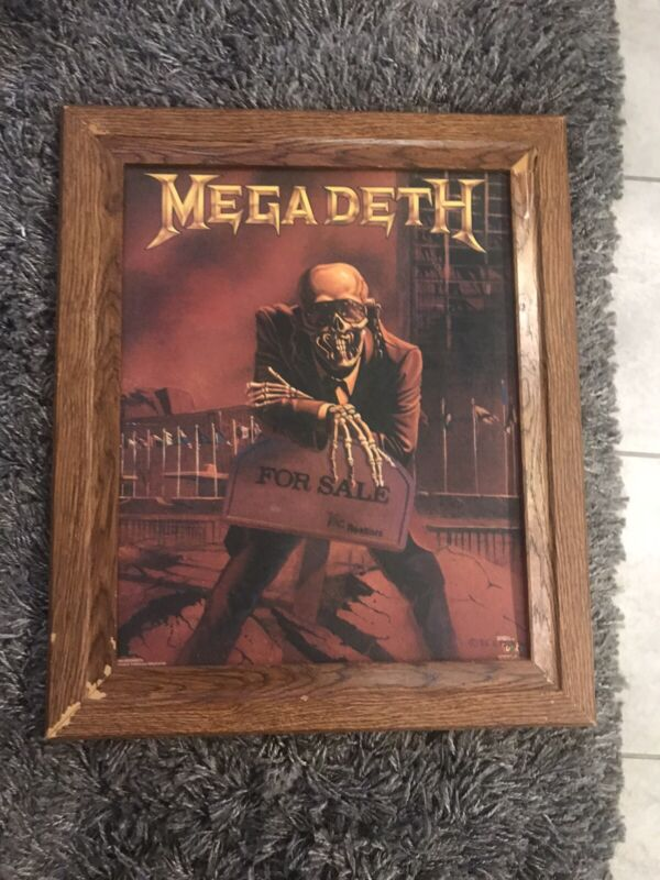 MEGADETH, PEACE SELLS, POSTER 1986 NICE! This poster is very rare!