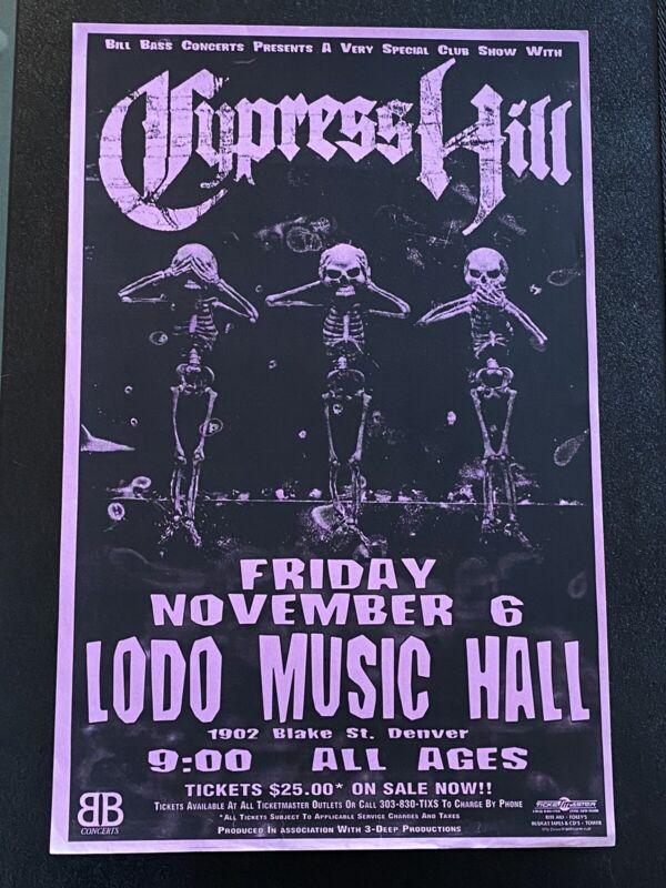 Cypress Hill Denver Concert Poster ORIGINAL